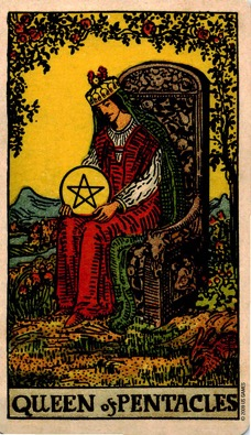 PENTACLES13 QUEEN